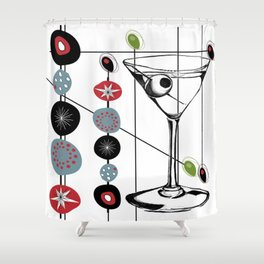 Mid-Century Modern Art Atomic Cocktail 3.0 Shower Curtain