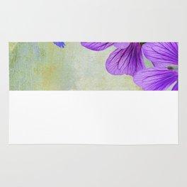 Purple Cranesbill Rug