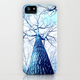 Winter's Coming : Wintry Trees Galaxy Skies iPhone Case