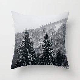 Layers of silence - II Throw Pillow
