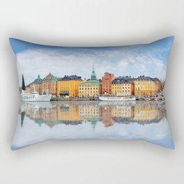A Panorama of Gamla Stan in Stockholm, Sweden Rectangular Pillow