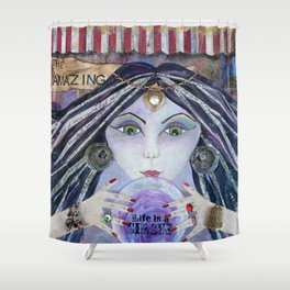 THE AMAZING - Gypsy Witch, Fortune Teller Shower Curtain
