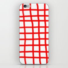 RED GINGHAM iPhone & iPod Skin