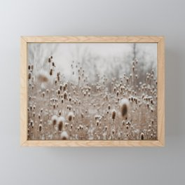 The Snowy Meadow Framed Mini Art Print