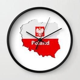Poland map Wall Clock