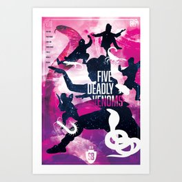 Shaw Brothers Poster Series :: 5 Deadly Venoms Art Print