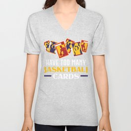 Basketball Card Collector Collecting Cards Unisex V-Neck