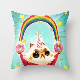 Donut Power! Throw Pillow