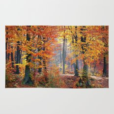 Colorful Autumn Fall Forest Rug