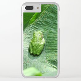 Green Camouflage in the Arrowheads Clear iPhone Case