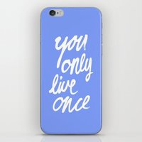 yolo iPhone & iPod Skins featuring YOLO by Pink Berry Patterns