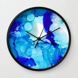 Blue Aqua Wall Clock