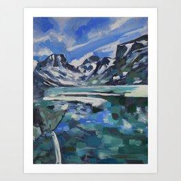 Rainbow Lake Art Print