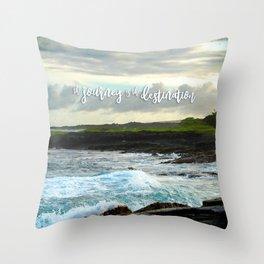 Hawaii black sand beach photo | The journey is the destination Throw Pillow