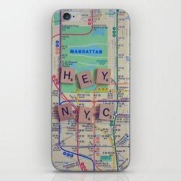New York City, NYC Map, Subway, Travel iPhone Skin