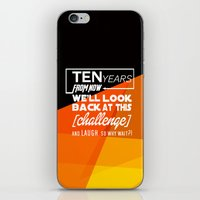 motivational iPhone & iPod Skins featuring Motivational Quote by Zenife