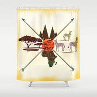 africa Shower Curtains featuring Africa by famenxt