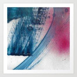 Variations in blue 1 Art Print