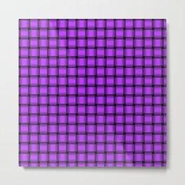 Small Light Violet Weave Metal Print