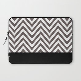 Chevron Striped Seafoam, Gray, Black Laptop Sleeve