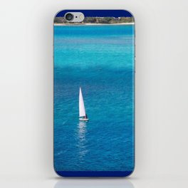 Perfect Blue Sailing Day iPhone Skin