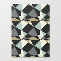 geo Canvas Prints featuring Geo by SarahFlemingDesigns