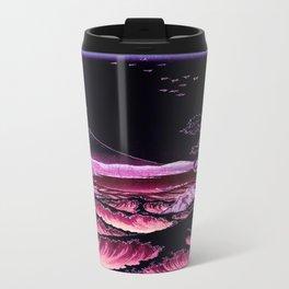 The Sea at Satta : Magenta Purple Travel Mug