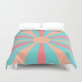 pink and peach sunshine Duvet Cover