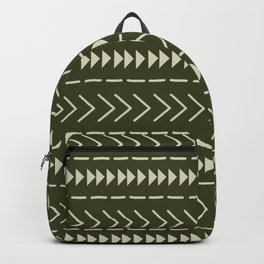 Mudcloth Forest Green Backpack