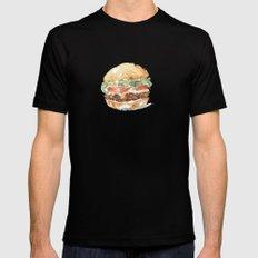 A burger MEDIUM Mens Fitted Tee Black