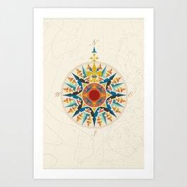 Rose Compass  Art Print