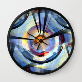 Abstract Charm Offensive Wall Clock
