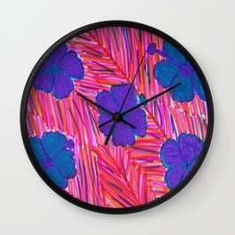 Pink Hawaii Dreams Wall Clock