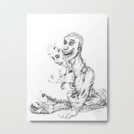 Tearing Faces Metal Print