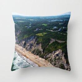 Hidden Beaches of Block Island, Rhode Island - New England's Hidden Gem Throw Pillow