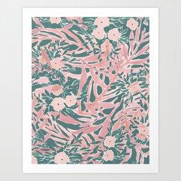 Tropical Daydream Blush Green Art Print