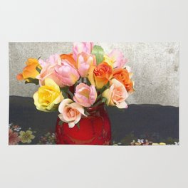 Still Life with Tulips Rug