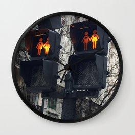 Gay Street Lights (Lesbian Couple) Wall Clock