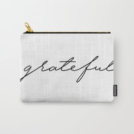 Grateful lettering design Carry-All Pouch