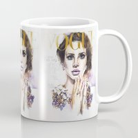 lana Mugs featuring Lana by Kim Morrow
