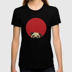 Pug Black Womens Fitted Tee X-LARGE