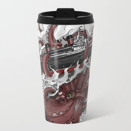 Octopus vs. Queen Mary Metal Travel Mug