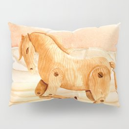 Wooden Horse Pillow Sham