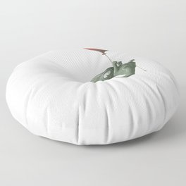 Crocodile in Trouble Floor Pillow
