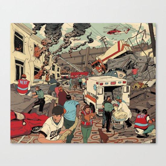Disaster Scene Canvas Print