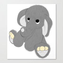 Stuffed Elephant Canvas Print