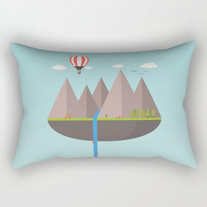 Flat island  Rectangular Pillow
