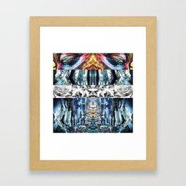 blurple relief Framed Art Print