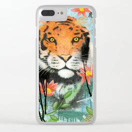 Bengal Tiger - Panel One of Endangered Species of Asia Triptych Clear iPhone Case