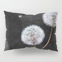 Black Dandelion Pillow Sham